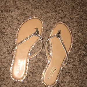 Bedazzled sandals, still new but no tags.